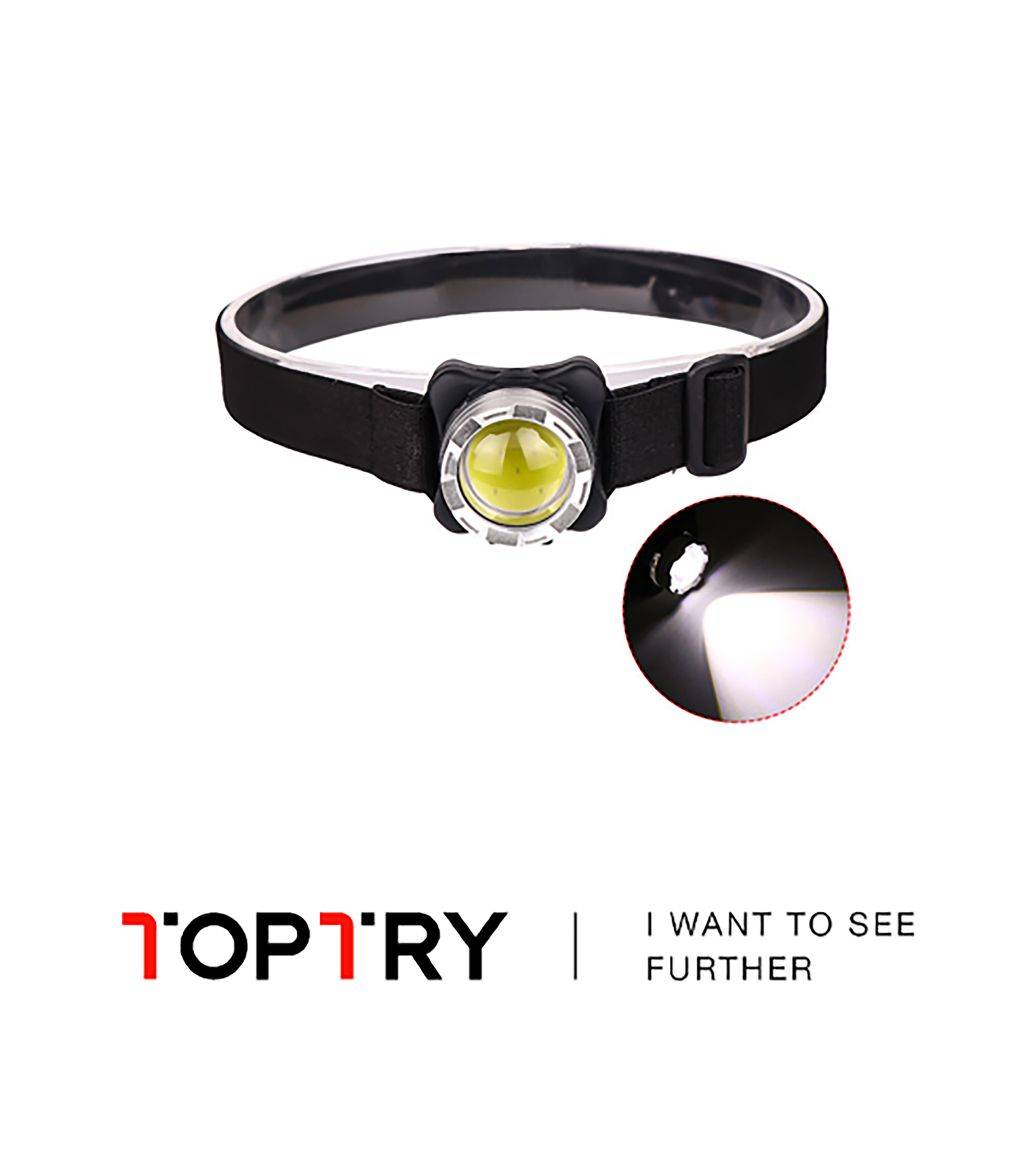 Rechargeable Work Headlights, LED Work Lights 2 Kinds Of Lighting Modes, With Removable Headlights, For Adventure Camping