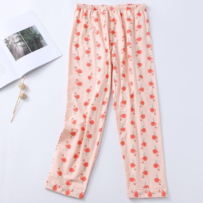 Sleep Bottoms Women Printed Kawaii Summer Cotton Comfortable Breathable Womens Korean Style Loose Pajama Pants Sleepwear Ulzzang