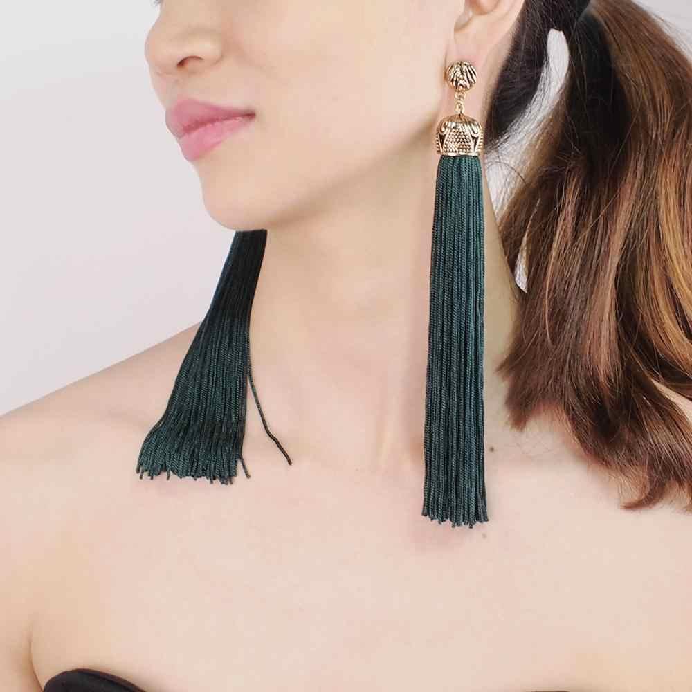 MANILAI 4 色ヴィンテージボヘミアン女性ファッションジュエリー声明ブラブラピアスエスニック