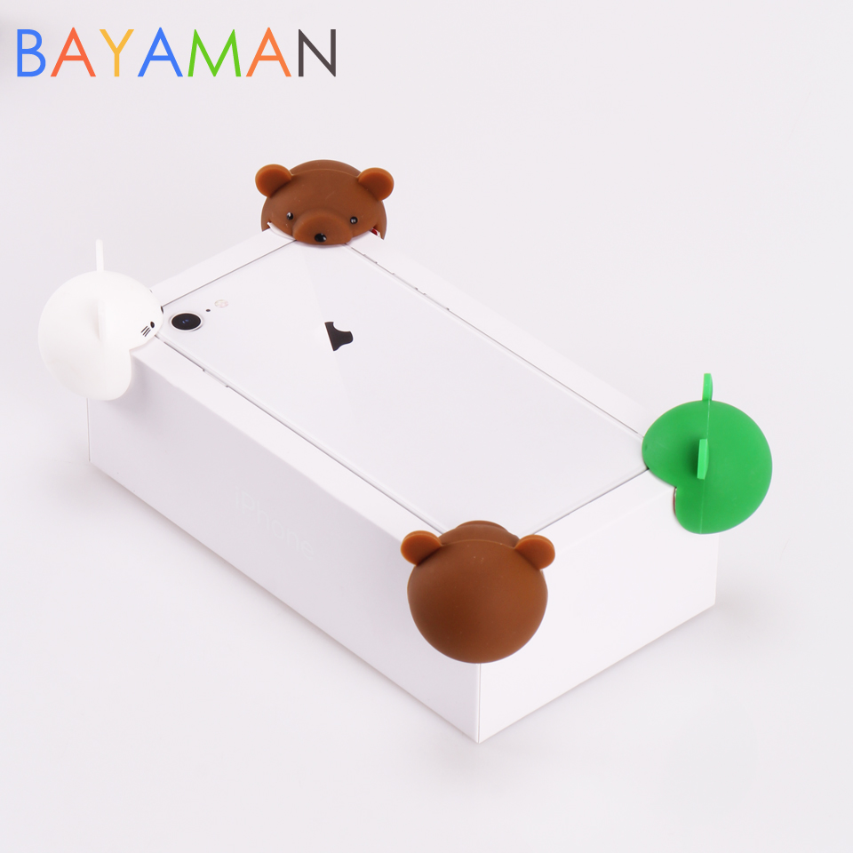 6pcs Child Baby Safety Cute Cartoon Furniture Corner Guards Soft Silicone Table Desk Corner Protector Edge Cover Toddler Infant
