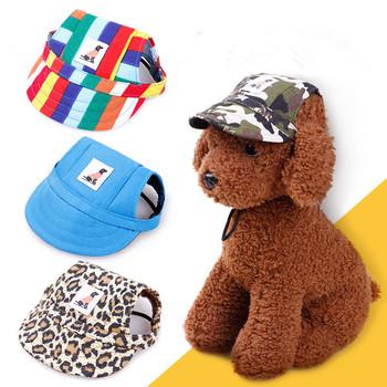 Dla zwierząt domowych kapelusz czapka z daszkiem modny kapelusz dla psów na co dzień płótno czapka dla kapelusz dla psa Chihuahua 8 kolorów tanie i dobre opinie Paski FIBER