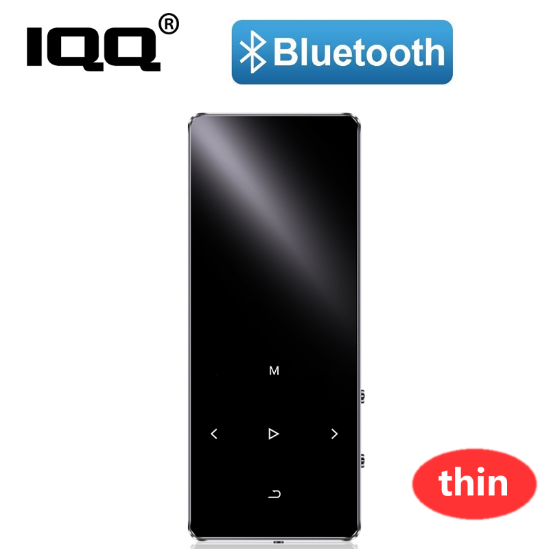 IQQ New Bluetooth 4.1 Version Thin MP3 Player With Speaker Touch Screen And Built-in 16G HiFi Portable Walkman With FM/Recording