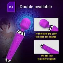 Woman Clitoris Stimulator Wand Vibrator Massager Powerful Magic Wand Sex Toys Adults G Spot Vibrating Dildo For Women