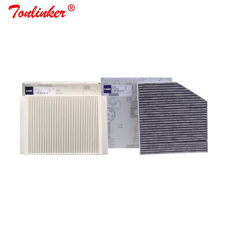 Cabin Filter 2 Pcs For Mercedes Benz C-CLASS W205 A205 C205 S205 2013-2019 Model Built in External Air Conditioning Filter Set(China)