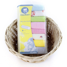 8 unids/pack de algodón toallas para bebé recién nacido 22,9*22,9 CM Saliva Toalla de Baberos de toalla de alimentación cuadrado toallas pañuelo toallas pequeñas