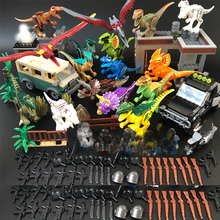 Jurassic World Dinosaurs Park party animals figures sets Building Blocks velociraptor Tyrannosaurus Rex toys for kids blocks toy loz mini kids blocks jurassic world building blocks lot huge dinosaurs jurassic park christmas toys for children