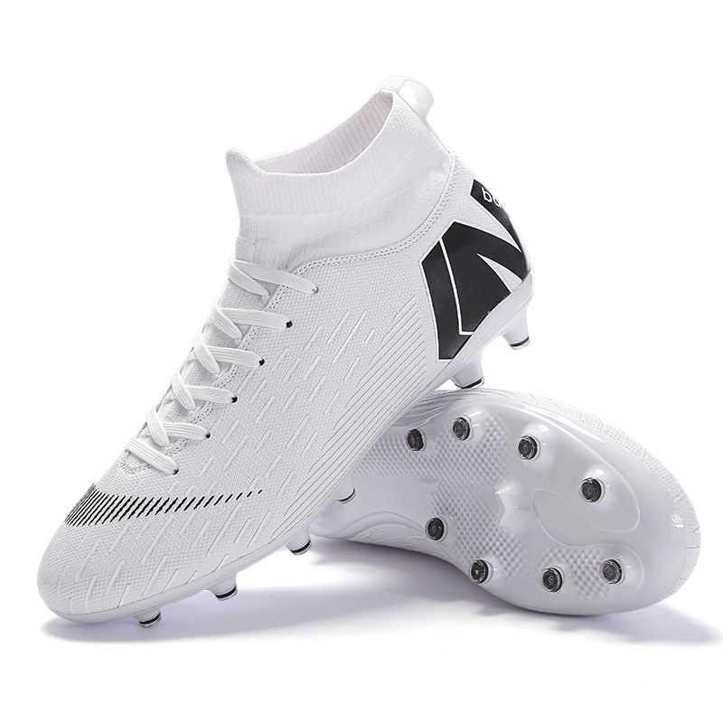 חיצוני גברים בני כדורגל נעלי כדורגל מגפיים גבוה קרסול ילדים סוליות אימון ספורט סניקרס גודל 35-46 Dropshipping