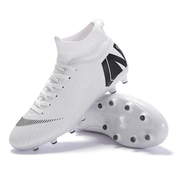 Outdoor Men Boys Soccer Shoes Football Boots High Ankle Kids Cleats Training Sport Sneakers Size 35-46 Dropshipping