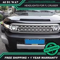 car styling Case For Toyota FJ CRUISER 2007 2015 Headlights FJ CRUISER Headlights LED light bar DRL Q5 bi xenon lens h7 xenon