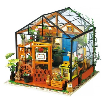 DIY Doll House with Furniture Children Adult Miniature Dollhouse Wooden Kits Toy  Doll House Miniatures