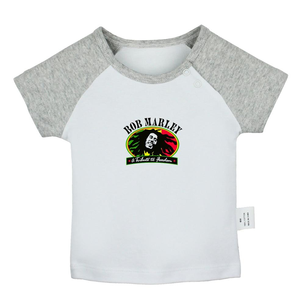 Bob marley robert nesta marley reggae música design recém-nascido do bebê meninos meninas camisetas da criança impressão gráfico de manga curta camisetas