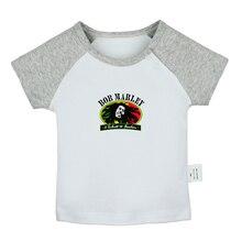 Bob Marley Robert Nesta Marley Reggae Music Design Newborn Baby Boys Girls T-shirts Toddler Print Graphic Short sleeve Tee Tops