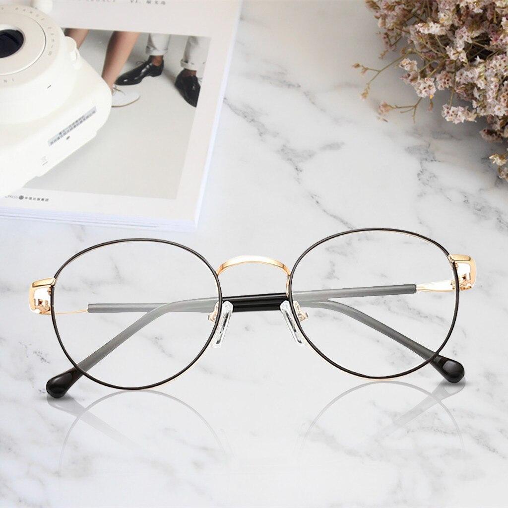FILTER-GLASSES Anti-Blue-Light Women New UV400 Fashion Metal Eyewear Retro Transparent