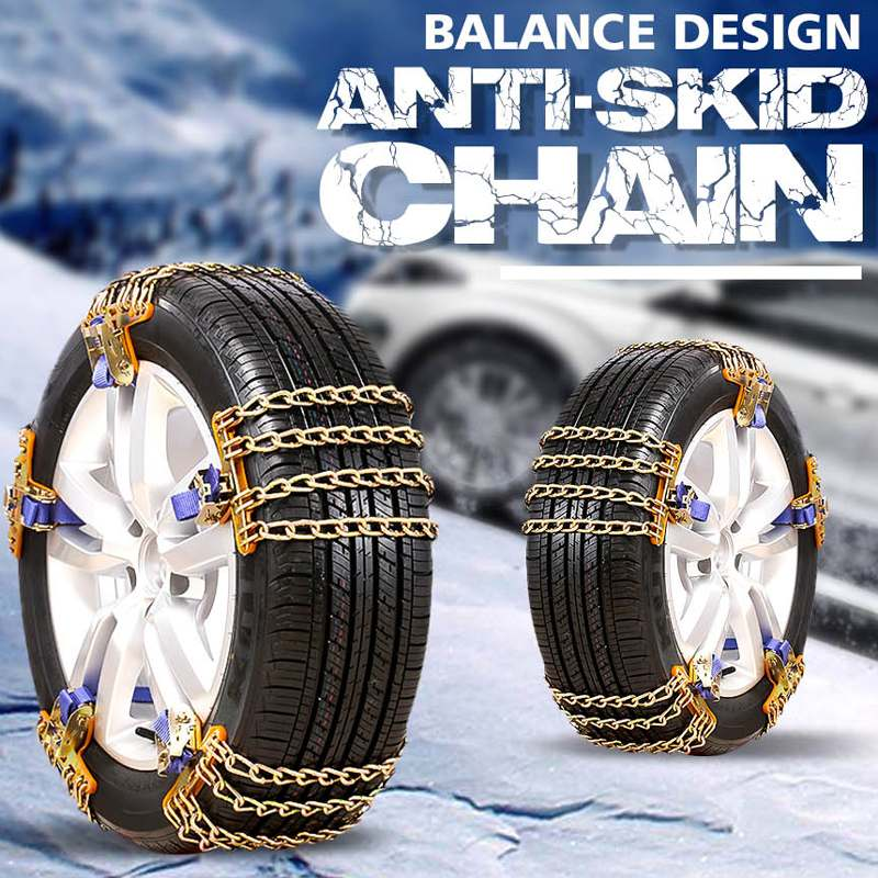 4 Chains Balance Design Truck Car Wheels Tyre Tire Snow Ice Chains Belt Winter Anti-skid SUV Wheel Chain Mud Road Safe Safety