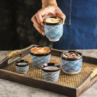 Rhe 1-4psセラミックコーヒーカップ磁器ティーカップ大容量コーヒーショップマグ80-200ミリリットル耐熱卸売ドリンクガラスセット