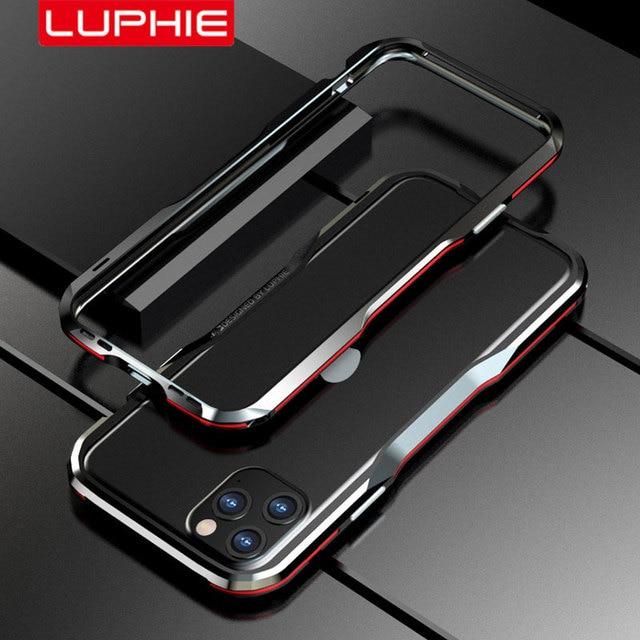 Paraurti in metallo Luphie per iPhone 12 Pro Max 11 custodia SE custodia protettiva in alluminio per iPhone X Xs MAX Xr 7 8 Plus paraurti