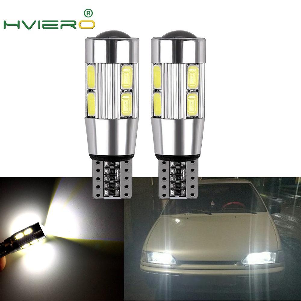 2X Auto LED Car Light T10 W5W Canbus 194 10 SMD 5630 5730 LED Light Bulb No Error LED Light Parking LED Auto Side Light CAR Led