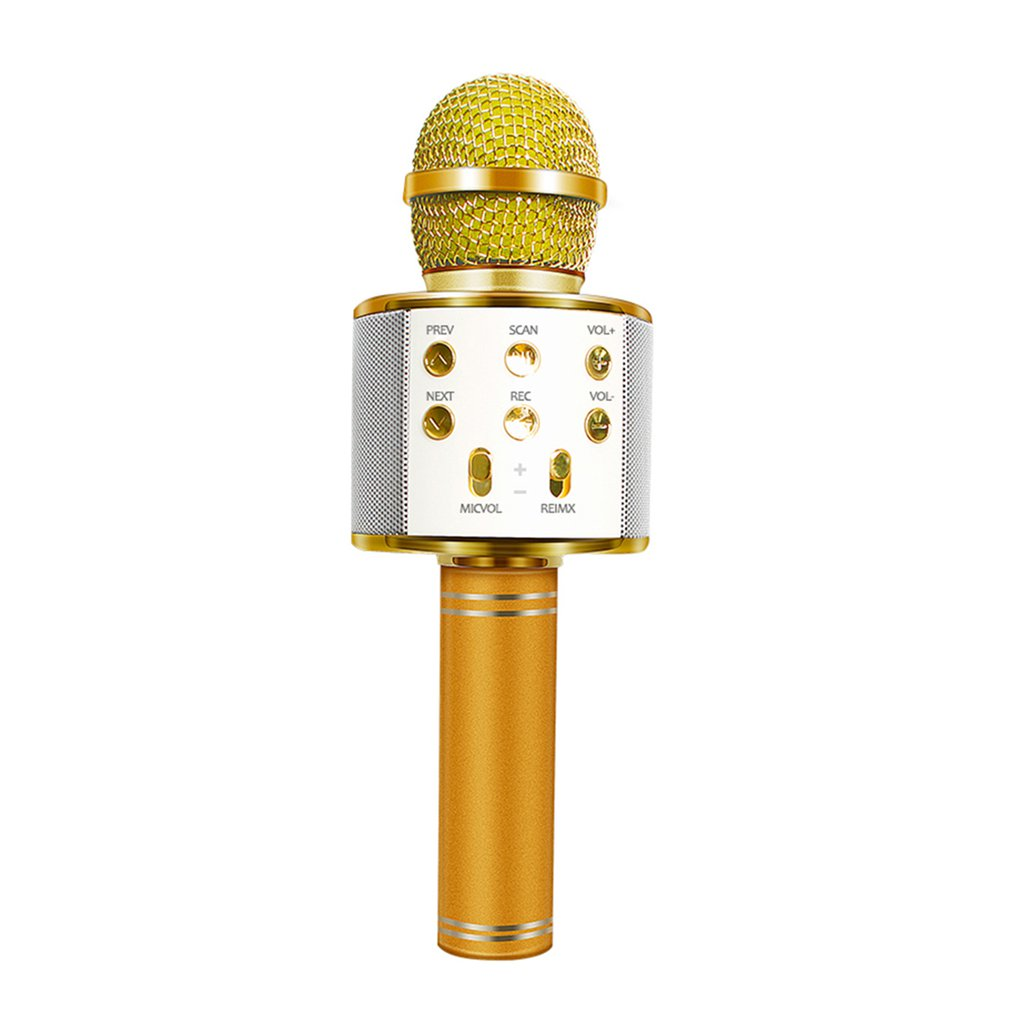 Professional WS-858 Handheld KTV Microphone Portable Wireless Karaoke Home Mic Speaker Player Microphones