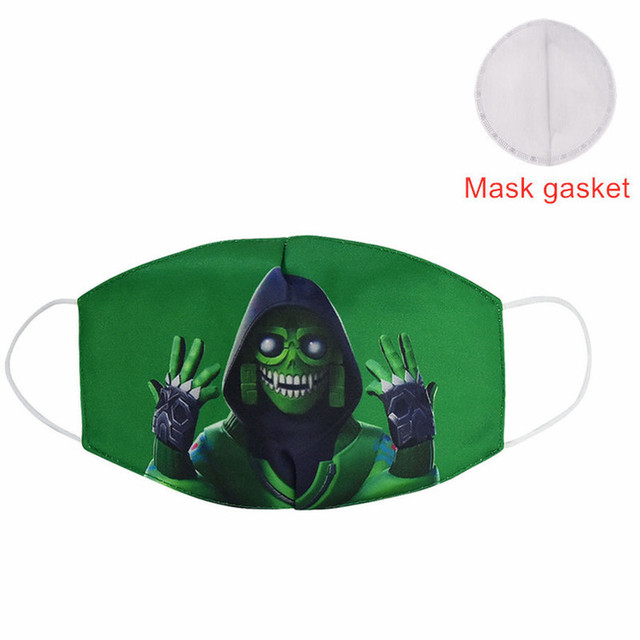 Hot Sale 2020 MEZMER Cartoon Maska Dustproof Mouth Face Mask Kid Cartoon Cover Fashion Muffle Face Mouth Masks for Children Game 2