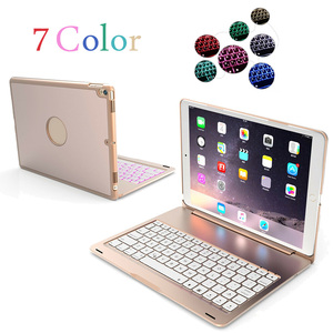 Чехол для беспроводной клавиатуры из алюминия и пластика для iPad Pro, 10,5 дюймов, A1701, A1709, A1852, 2017, чехол для планшета, 7-цветная клавиатура с подсв...