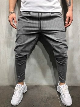 Hip Hop Casual Fashion Small Leg Tether Slim Fit Men Business Suits Office Work  Pants