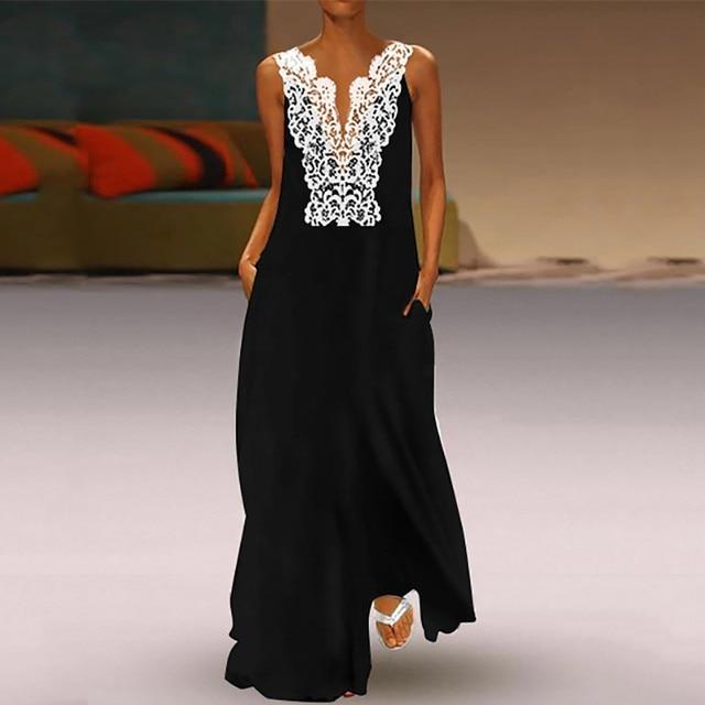 Beautiful Lace top full-length open shoulder dress 3