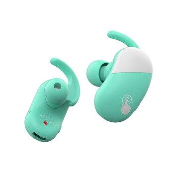 Arikasen tws Touch Wireless Earbuds IPX5 Waterproof Sport Bass Bluetooth Headphones Noise Cancelling Earphone with Ear Hook mic