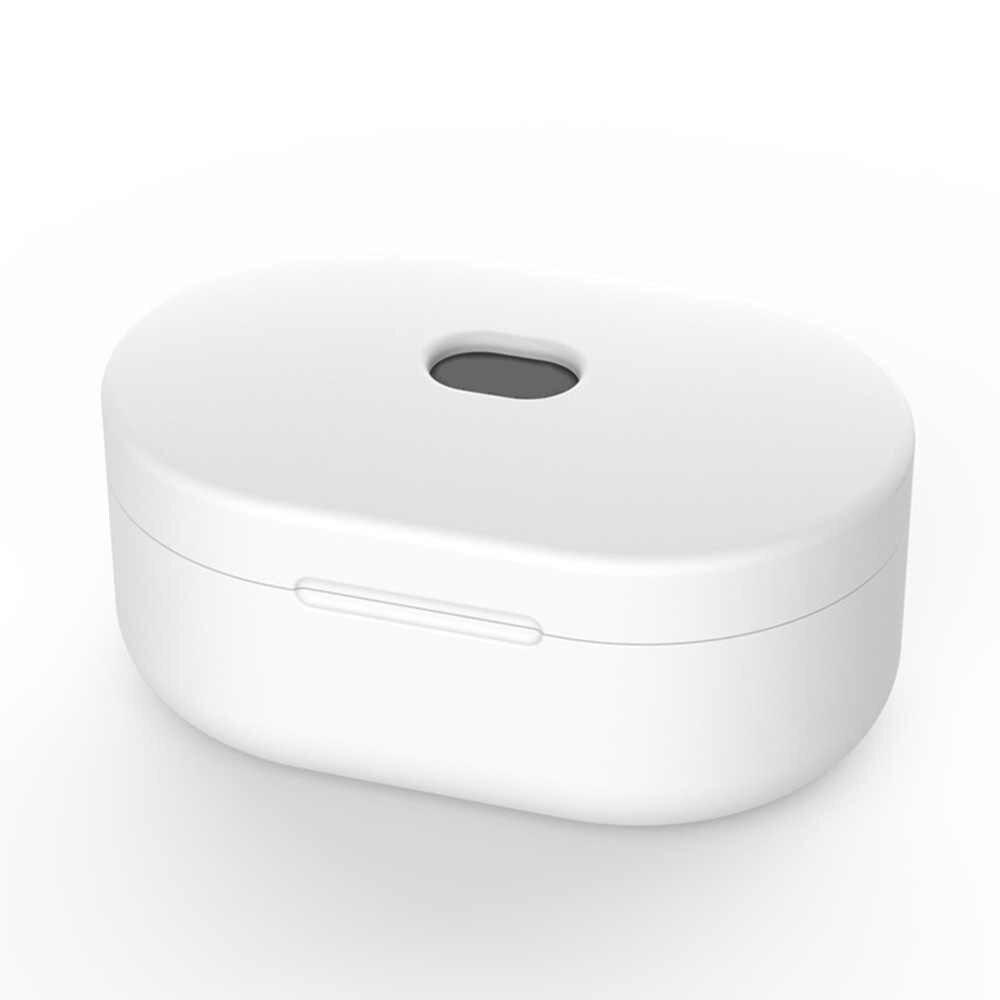 Nirkabel Bluetooth Earphone Case untuk Xiaomi Airdots Tws Pelindung Cover untuk Redmi Airdots Earplug Headset Aksesoris Silikon