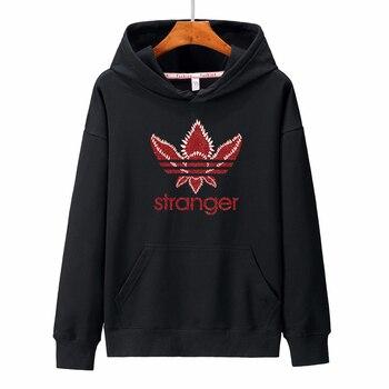 2019 Stranger Things sudaderas con capucha hombres/mujeres 100% algodón sudaderas Casual de gran tamaño estampado Harajuku Hip Hop Hoodie hombres Tops