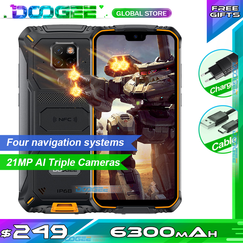 "IP68 Doogee S68 Pro Rugged Phone Helio P70 Octa-core 6GB 128GB 21MP+8MP+8MP 5.84"" IPS Display 6300mAh 12V/2A Charge Smartphone(China)"