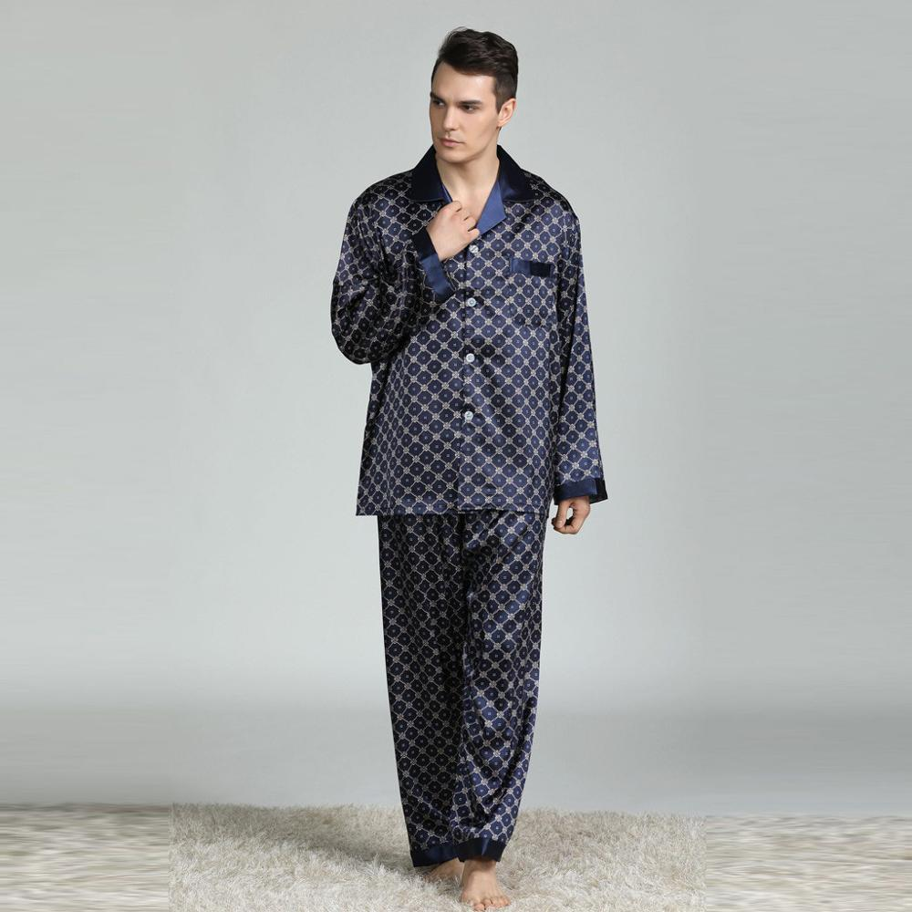 2020 New Men's Home Service Pajamas Suit New Long-sleeved Printed Pyjama Men Full Sleepwear Spring Autumn Men Pyjamas Male