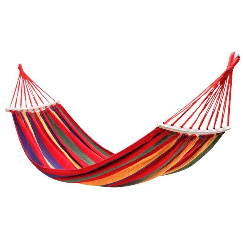 Горячая продажа Радуга Открытый отдых двойной гамак из холста Сверхлегкая сетка для кемпинга парашют гамак кемпинг подвесная кровать