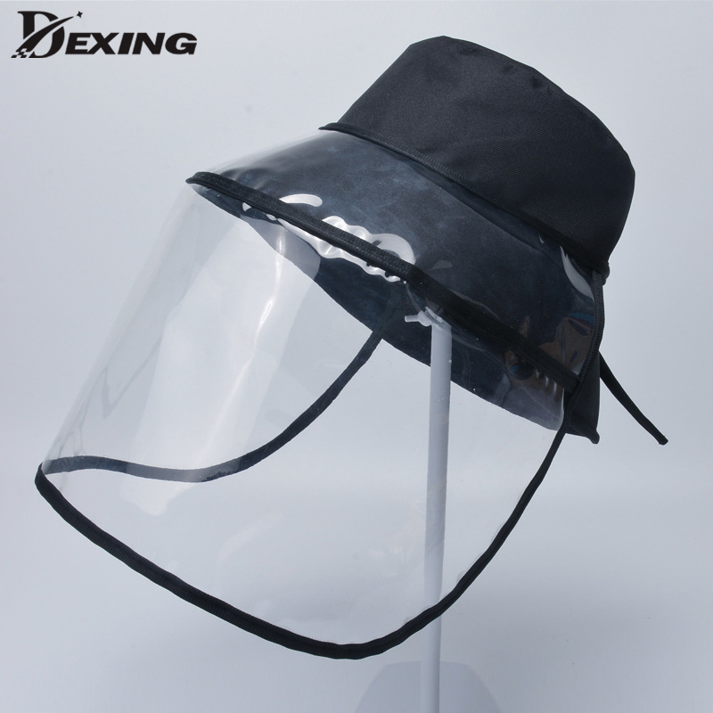 Spring Summer Men Women Coronary  Protective Cap Eye Protection Bucket Hat Anti-pollen Mask Anti-saliva Face Cover Caps