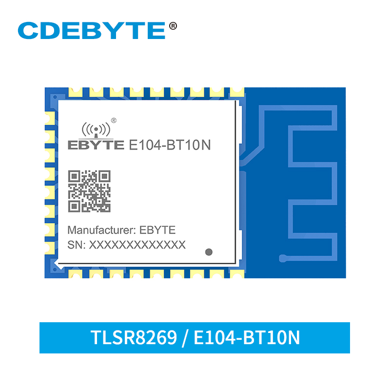 TLSR8269 Node Transceiver 2.4GHz Sigmesh BLE4.2 UART GFSK E104-BT10N 8dbm PCB Antenna SMD Wireless Bluetooth Modlue