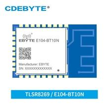 TLSR8269 Nodo Ricetrasmettitore 2.4GHz Sigmesh BLE4.2 UART GFSK E104 BT10N 8dbm PCB Antenna SMD Senza Fili di Bluetooth Modlue