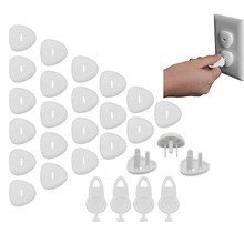 Outlet Plug Covers Baby Proofing Electric Protector Caps Kit for Child Safety (24 Plugs + 4 Keys)(China)