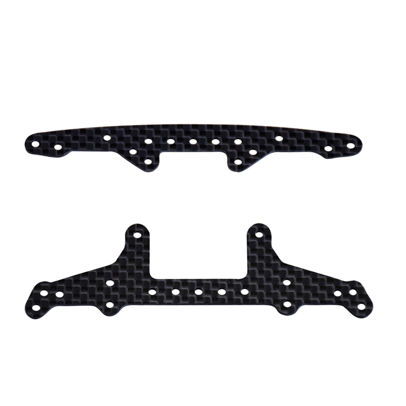 1.5mm Carbon Fiber Lettering Leading Rear Plate Front Plate Parts For 2013 Style RC MINI 4WD Tamiya Car Crawlers
