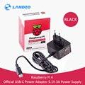 Официальный компьютеры raspberry pi 4 источника питания USB-C адаптер переменного тока 5,1 В 3A ЕС/адаптер для розеток американского стандарта рекоме...
