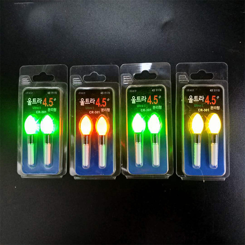 2pcs/lot Light Stick Yellow/Red/Orange Lightstick Work With CR322 LED Luminous Float Night Fishing Float Bobber Accessory B388