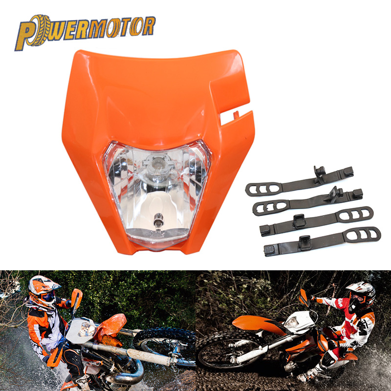 Motorcycle Universal Headlamp Lights Headlight For KTM EXC EXCF SXF XC XCW XCF XCFW 125 150 250 350 450 530 Dirt Bike Supermoto