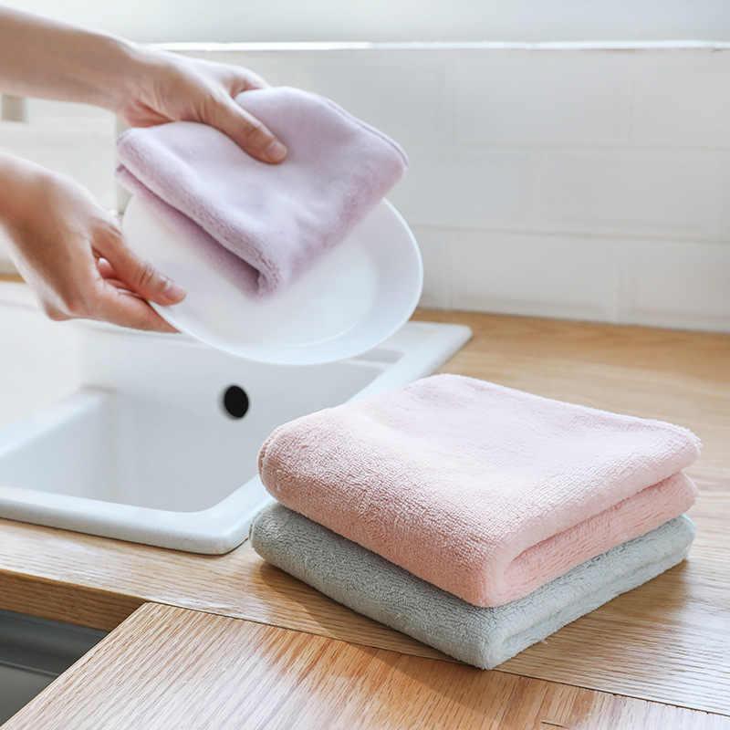 Luluhut 3 יח'\חבילה בית מיקרופייבר מגבות מטבח סופג עבה בד עבור ניקוי מיקרו סיבי לנגב שולחן מטבח מגבת