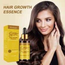 Etkili saç dökülmesi tedavisi kremi doğal zencefil bitki Serum özü yağı hızlı büyüme saç onarım bakımı kozmetik