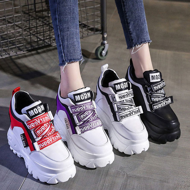 Фото thick soled high daddy shoes girls sponge cake casual super