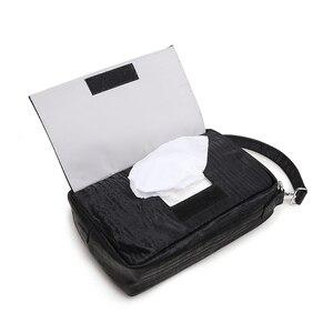 Image 4 - Soboba детские сумки для подгузников Сумка для беременных одноразовые многоразовые Твердые водонепроницаемые влажные сухие сумки для подгузников с ручкой черная сумка для протирания