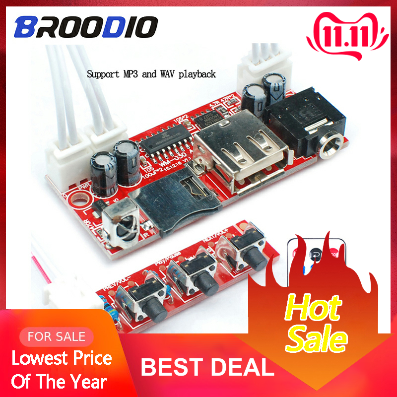 USB TF Decoder Module DC 5V 12V 16V MP3 Decoder Board WAV Lossless MP3 Player With Remote Control Support 32G Memory Card