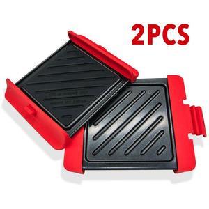 2 pçs bandeja de churrasco assadeira antiaderente rack de refrigeração cozimento folha forno de microondas seguro para frango asa pizza