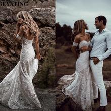 Vestido de novia bohemio de sirena de encaje con mangas desmontables Sweetheart vestido de novia vintage 2020 vestidos de boda bohemios