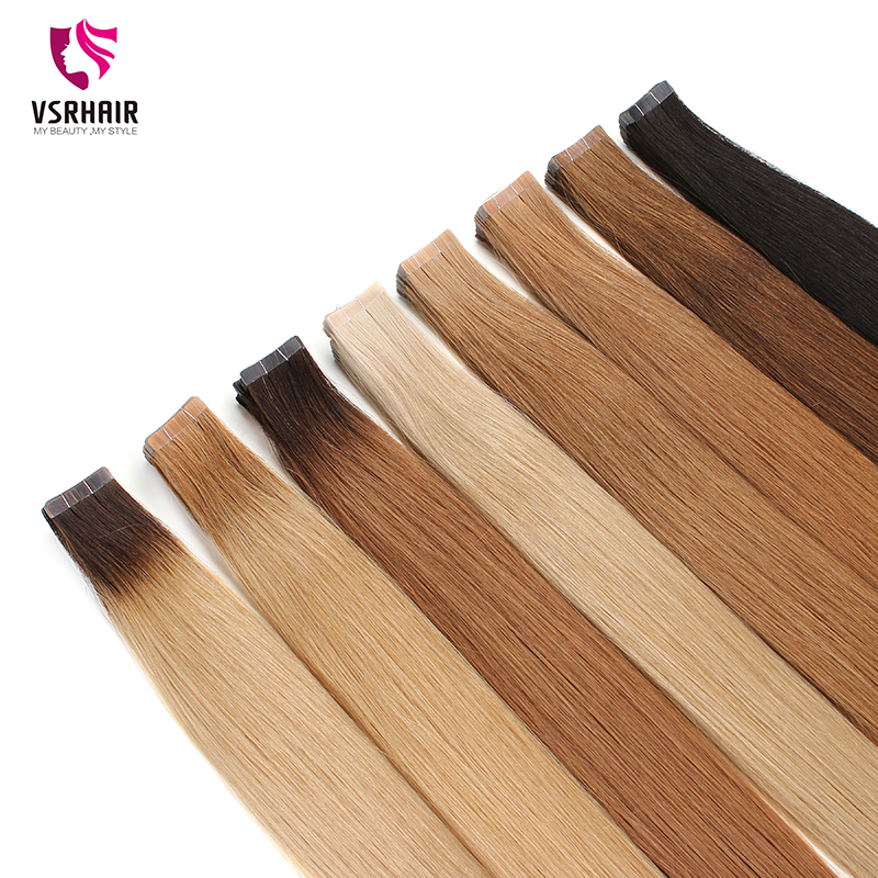 VSR 100% Remy Human Hair Tape Extensions  Skin Weft Seamless Hair Extension
