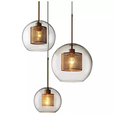 Nordic Modern Pendant Lights Loft Led Glass Ball Hanging Lamp Dining Room Industrial Decor Kitchen Fixtures Suspension Luminaire