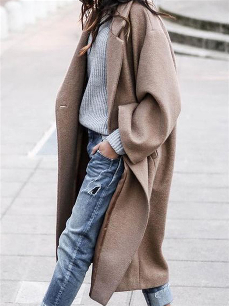 Wool & Blends casual solid coat